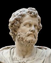 Hannibal'i tasvir eden bronz bir kafanın siyah beyaz fotoğrafı