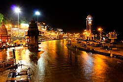 Har ki Pauri, Haridwar at evening