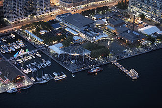 Harbourfront Centre - Aerial shot of Harbourfront Centre site
