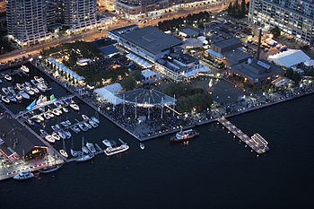 English: Aerial shot of Harbourfront Centre site.