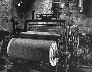 Harris Tweed - Harris Tweed Weaver c1960