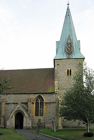 Copper cladding - Harvington Parish Church, with its copper-clad spire