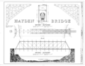 Hayden Bridge, Spanning McKenzie River at Southern Pacific Railroad (moved from Springfield, Lake County, OR), Springfield, Lane County, OR HAER ORE,20-SPRIF,2- (sheet 2 of 4).png