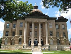 The Hays County Courthouse, in June 2010.