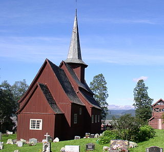 Hegge Stave Church church building in Øystre Slidre, Oppland, Norway