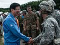 Heita Kawakatsu and soldiers 20160904 2.jpg