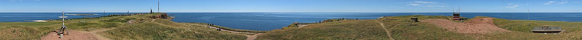Panoramic view from Heligoland´s highest point.