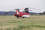 Heligroup Fire LLC (N947CH) Billings Flying Service, Inc CH-47D, operated by United Aero as Helitack 279, at Wagga Wagga Airport.jpg
