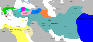 The Seleucid Empire in 281 BC on the eve of the murder of Seleucus I Nicator