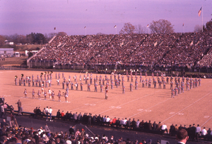 Vaught–Hemingway Stadium - Football game at Hemingway Stadium, circa 1960
