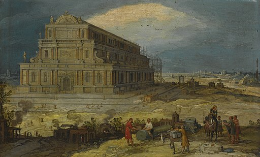 Hendrik van Cleve III The Building of the Temple of Artemis at Ephesus