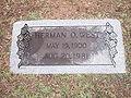 Herman O. West grave marker IMG 3718.JPG