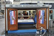 Chiosco di aringhe a Koningsplein Amsterdam