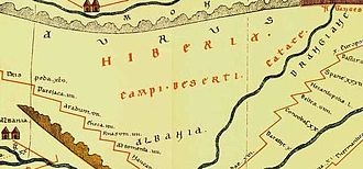 "Name of Georgia (country) - ""Hiberia"" i.e. Iberia on Tabula Peutingeriana."