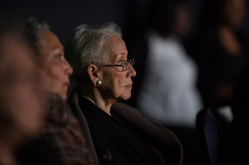 Katherine Johnson watches the premiere of Hidden Figures