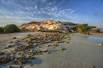 Al Khor Island - Hillock on northern end of Al Khor Island.