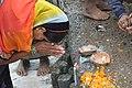 Hindu Devotee Prays To Ganga - Makar Sankranti Observance - Kolkata 2018-01-14 6540.JPG