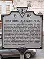 Historic Alexandria (Historical Highway Marker E-86) (3359076294).jpg