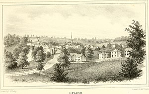 Upland, Pennsylvania - Image of Upland Township from 1862