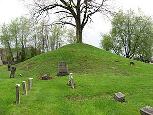 Hodgen's Cemetery Mound - Eastern side of the mound