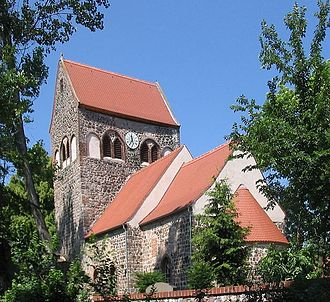 Barnim Plateau - A fieldstone church in Hönow, constructed some time before 1250.