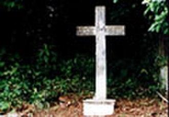 Antonio Francisco Xavier Alvares - Alvares' grave prior to disinterment