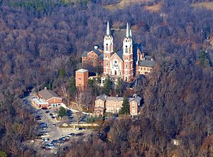 Holy Hill National Shrine of Mary, Help of Christians - Holy Hill from the air