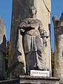 Holy Trinity column. Listed ID 8723. Statue of Saint Catherine. - Simontornya.JPG