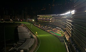 Sport in Hong Kong - Happy Valley Racecourse at night