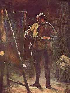 The Painter at His Easel, an oil painting by Honoré Daumier.