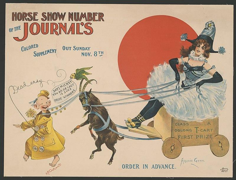 Horse show number of the Journal's colored supplement, out Sunday, Nov. 8th, order in advance - Archie Gunn ; R.F. Outcault. LCCN2014649607.jpg