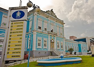 Health in Brazil - Portuguese Beneficent Hospital, in Manaus.