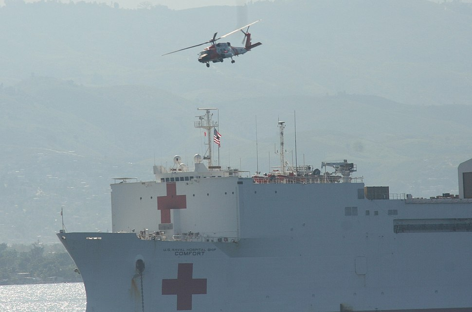 Hospital ship usnscomfort Jan 20 haiti