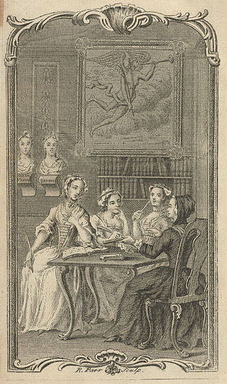 Eliza Haywood - Frontispiece to The Female Spectator, Vol. 1