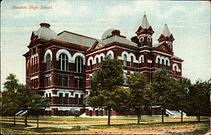 Sam Houston Math, Science, and Technology Center - Houston High School as of October 1909