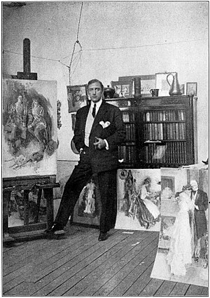 Howard Chandler Christy - Howard Chandler Christy in his studio