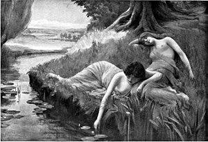 "Hulder - ""Huldra's Nymphs"" (1909) by Bernard Evans Ward"