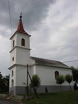 Hungary Torvaj church-ev west.jpg