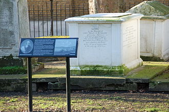 John Hunter (Royal Navy officer) - Hunter tomb in St John's Church Gardens