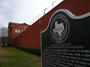 """Huntsville Unit - The red brick walls lead to the nickname """"Walls Unit."""""""
