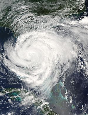 Palm Beach County, Florida - Satellite imagery of Hurricane Frances making landfall in Martin County