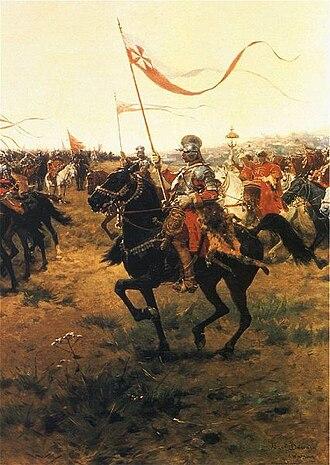 Polish hussars - Husarz (Polish Hussar), by Józef Brandt
