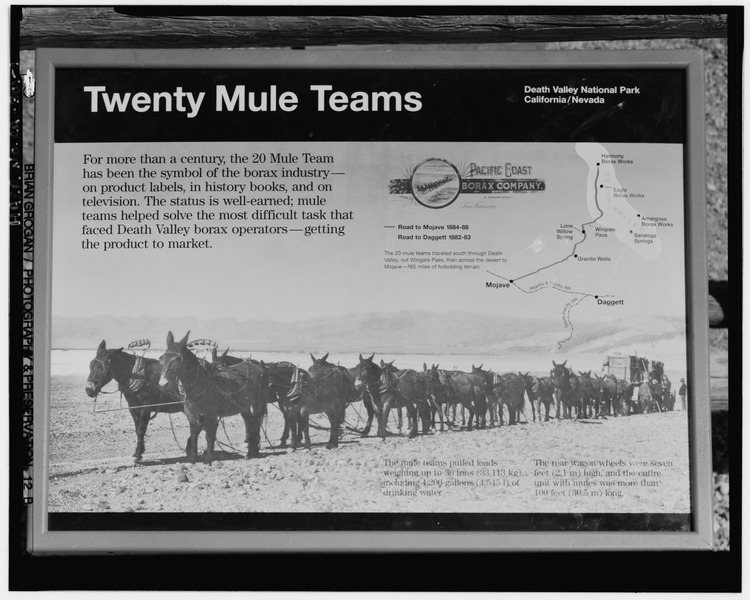 File:INTERPRETIVE SIGN AT HARMONY BORAX WORKS. - Twenty Mule Team Borax Wagons, Death Valley Junction, Inyo County, CA HAER CAL,14-DVNM,4-1.tif