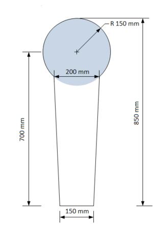 Steel target - Image: IPSC Popper steel target