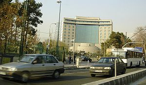 Islamic Republic of Iran Broadcasting - IRIB's northeast gate along Valiasr Street, Tehran