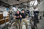 ISS-46 Scott Kelly and Mikhail Kornienko marked their 300th consecutive day in the Destiny lab.jpg