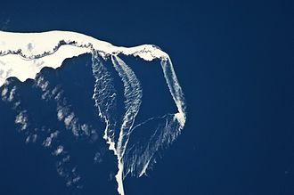 Urup - Ice floes off the north-eastern tip of the island.