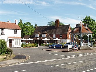 Ickenham - The Coach and Horses public house and the Pump
