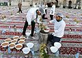 Iftar Serving for fasting people in the holy shrine of Imam Reza 11 ().jpg