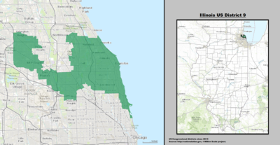 Illinois's 9th congressional district - since January 3, 2013.